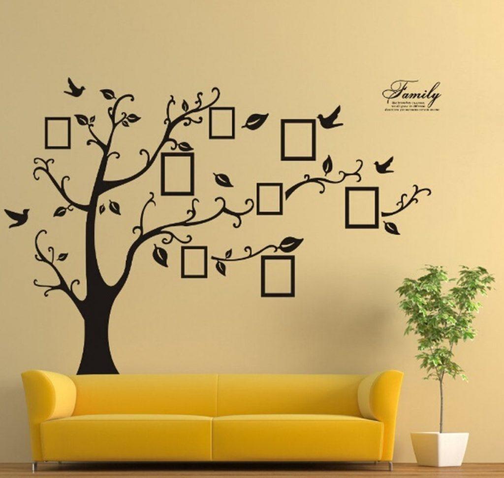 Muursticker Family Tree Fotolijstjes Familie Boom