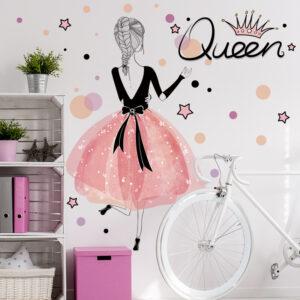 Muursticker Ballet Queen