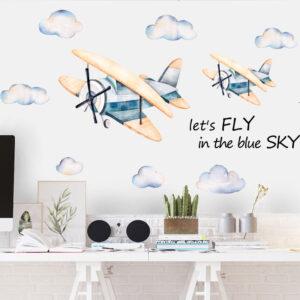 Muursticker Vliegtuigen in de Lucht